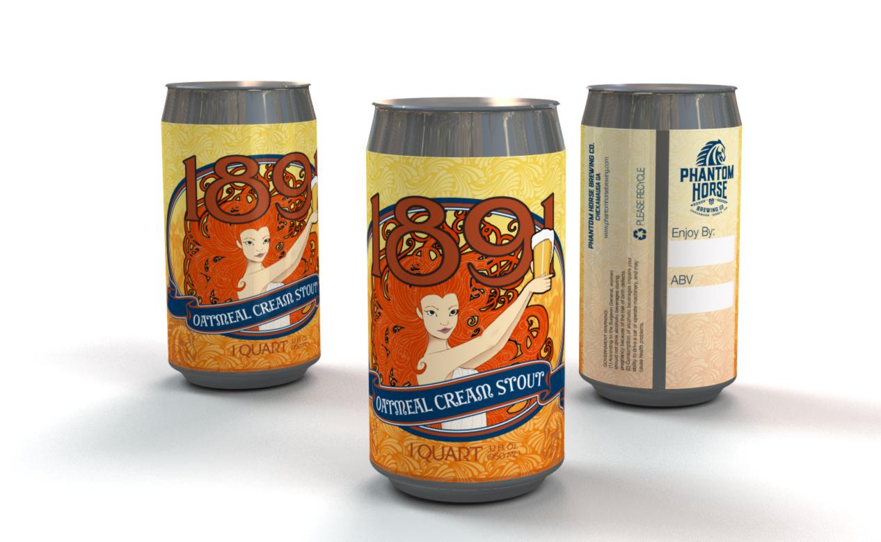 Phantom Horse Brewery's 1891 Oatmeal Cream Stout, Light Version